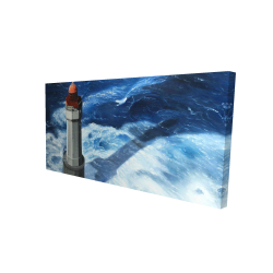 Canvas 24 x 48 - 3D - The headlight of jument