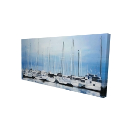 Canvas 24 x 48 - 3D - Boats at the dock