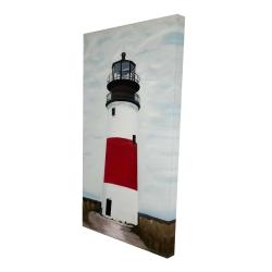Canvas 24 x 48 - 3D - Sankaty head lighthouse