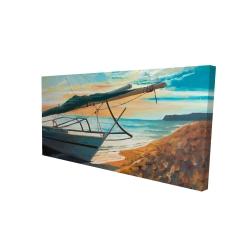 Canvas 24 x 48 - 3D - Peaceful seaside