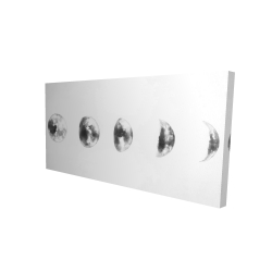 Canvas 24 x 48 - 3D - Black and white eclipse