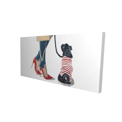 Canvas 24 x 48 - 3D - Best friends fashion