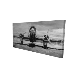 Canvas 24 x 48 - 3D - Grayscale plane