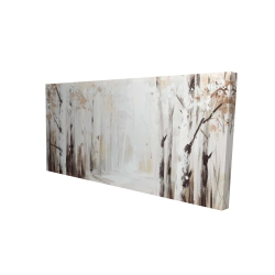 Canvas 24 x 48 - 3D - Winter forest