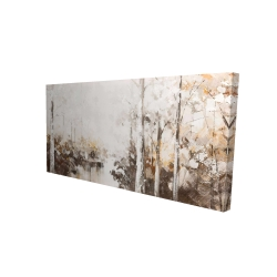 Canvas 24 x 48 - 3D - Abstract white forest