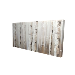 Canvas 24 x 48 - 3D - White birches on gray background