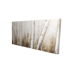 Canvas 24 x 48 - 3D - Texturized abstract forest