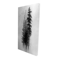 Canvas 24 x 48 - 3D - Silhouette of trees