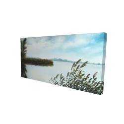 Canvas 24 x 48 - 3D - Quiet lake