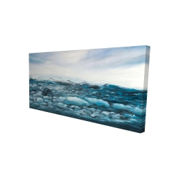 Canvas 24 x 48 - 3D - Glaciers in iceland
