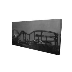 Canvas 24 x 48 - 3D - Amusement park