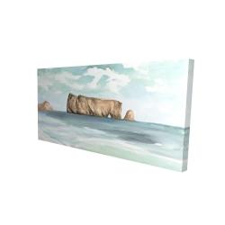 Canvas 24 x 48 - 3D - Rocher percé