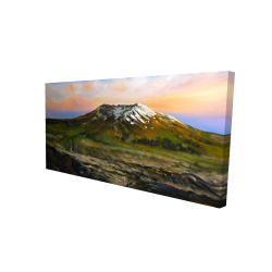 Canvas 24 x 48 - 3D - Valley and mountains landscape