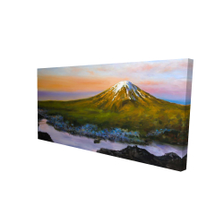 Canvas 24 x 48 - 3D - Landscape mount fuji