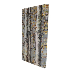 Canvas 24 x 48 - 3D - Blossoming birches