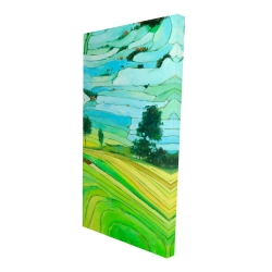 Canvas 24 x 48 - 3D - Rice fields of vietnam