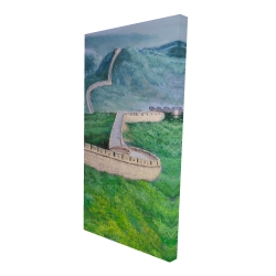 Canvas 24 x 48 - 3D - Great wall of china
