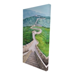 Canvas 24 x 48 - 3D - Great wall of mutianyu