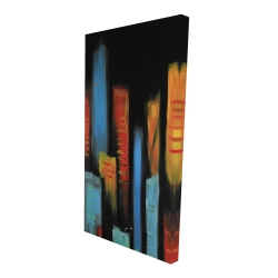 Canvas 24 x 48 - 3D - Abstract and colorful tall buildings