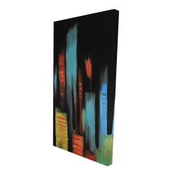 Canvas 24 x 48 - 3D - Abstract tall buildings
