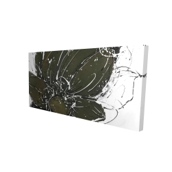 Canvas 24 x 48 - 3D - Abstract flower with paint splash