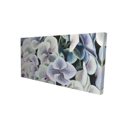 Canvas 24 x 48 - 3D - Colorful hydrangea flowers