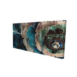 Canvas 24 x 48 - 3D - Blue flower montage
