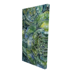 Canvas 24 x 48 - 3D - Abstract succulents