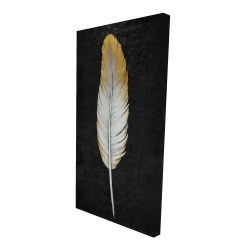 Canvas 24 x 48 - 3D - Golden feather