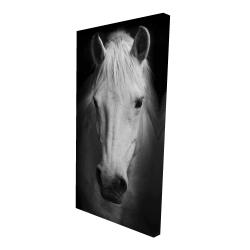 Canvas 24 x 48 - 3D - Monochrome horse
