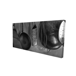 Canvas 24 x 48 - 3D - Kitchen tools for chef