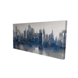 Canvas 24 x 48 - 3D - Melancholy city