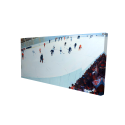 Canvas 24 x 48 - 3D - Game of hockey