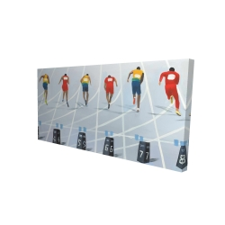 Canvas 24 x 48 - 3D - Race of 10 meters