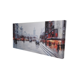 Canvas 24 x 48 - 3D - Street scene with cars