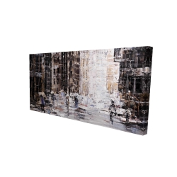 Canvas 24 x 48 - 3D - Industrial abstract city