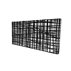 Canvas 24 x 48 - 3D - Abstract small stripes