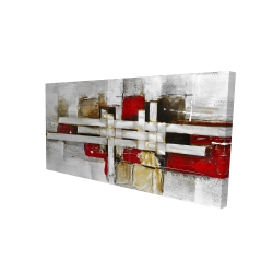 Canvas 24 x 48 - 3D - Abstract intertwining shapes
