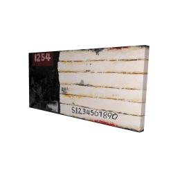 Canvas 24 x 48 - 3D - Wooden pallets looking art with numbers