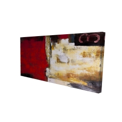 Canvas 24 x 48 - 3D - Abstract industrial art with numbers