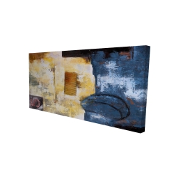 Canvas 24 x 48 - 3D - Abstract art with numbers