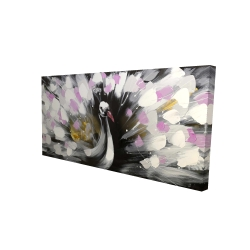 Canvas 24 x 48 - 3D - Beautiful spotted peacock