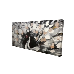Canvas 24 x 48 - 3D - Spotted abstract peacock