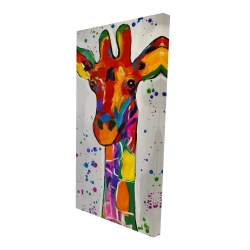 Canvas 24 x 48 - 3D - Abstract colorful giraffe with paint splash