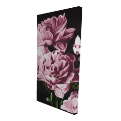 Canvas 24 x 48 - 3D - Pink peonies