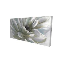 Canvas 24 x 48 - 3D - White chrysanthemum