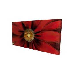 Canvas 24 x 48 - 3D - Red daisy
