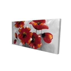 Canvas 24 x 48 - 3D - Anemone flowers