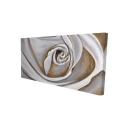 Canvas 24 x 48 - 3D - White rose closeup