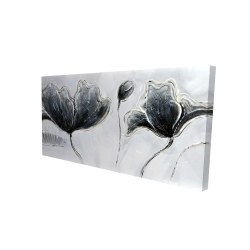 Canvas 24 x 48 - 3D - Industrial style flowers